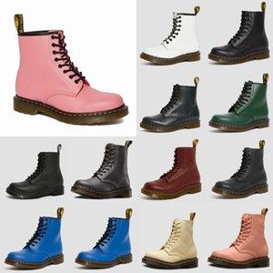 2020 unisex de alta calidad a prueba de agua otoño invierno Botas Hombres Negro Martin botas de cuero zapatos botas Dr. Martins hombres grandes del tamaño 38-44 # 334