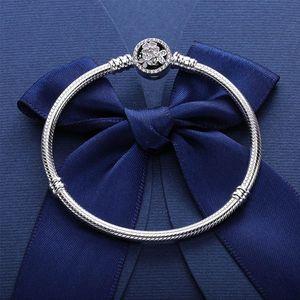 925 Sterling Silver BRACELET bloom flower enamel Clasp for Pandora Jewelry Charm Bracelet Original box Women Wedding Bracelets