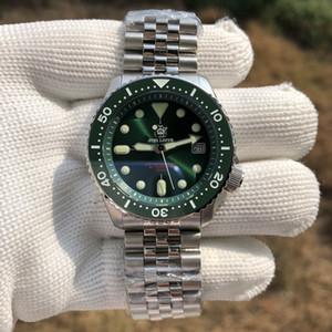 Nuovo Steeldive Mens SKX Diving Guarda SD1996 Verde Quadrante Movimento zaffiro 200M Acqua Resistenza NH35A automatica Watche meccanica