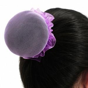 Nuevas muchachas Headwear Bun cubierta danza del ballet de patinaje brazoladas redecilla Bun cubierta Crotchet red de pelo de Headwear de la bailarina Accesorios elegante Ha h7lD #