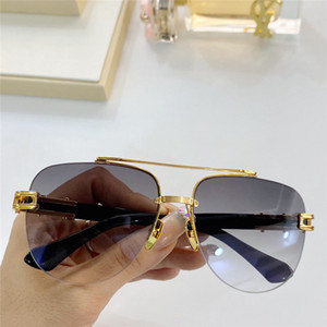GRAND TWO Fashion Sunglasses With UV Protection for men Vintage oval Metal half Frame popular Top Quality Come With Case classic sunglasses