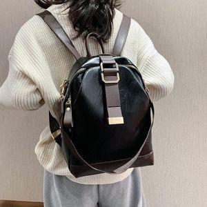 Borsa per zaino in pelle PU di modo per le donne Viaggi Back Pack BAG Designer di lusso Multi tasche Grande capacità Mochila PARI MUJER