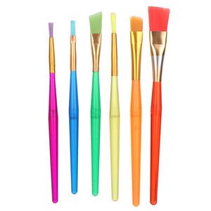 6pcs de colores para niños de plástico suministros de pintura de cepillo del artista gráfico de la acuarela Pinceles Pincel de arte pintura al óleo herramienta Pincel