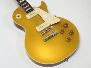 مخصص للتسوق 1956 التاريخية Goldtop الكتريك جيتار الذهب أعلى الخاصة مرة واحدة قطعة الذيل المزدوج P90 بيك اب، المصدرة الغيتار الأجهزة الساخن بيع
