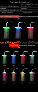 Hot Selling Temperature Control Romantic Light Bathroom Shower Heads 8 Led Lights 7 Colors 6 Inch Square Shower Head jllZVh xmh_home