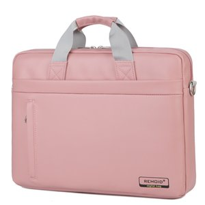 Big Capacity Nylon 14 15 Inch Laptop Brand Handbag Pink Shoulder Bag Protective Case Cover For Macbook Pro Air Reina Hp Sony