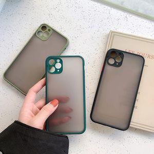 cassa del telefono Frosted per iPhone 11 12 11 Pro Max XR XS Max X 8 di copertina 7 6S opaca trasparente antiurto