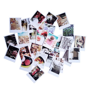 60 Vintage Cards 60 Envelope With 60 Stickers Set LOMO Mini Greeting Card Postcard Kraft Envelope Festival Gift 201214