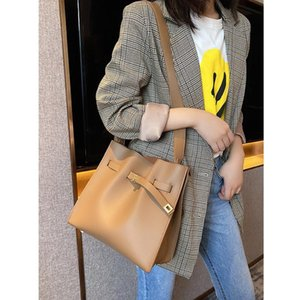 2020 New Fashion Large Capacity Casual Totes High Quality Genuine Leather Women Purse and Handbags Solid Shoulder Messenger Bags