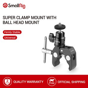"Tripod Monopods SmallRig Clamp Mount with 1 4"" Screw Ball Head Mount Hot Shoe Adapter and Cool Clamp - 1124"