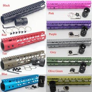 새로운 9 색 10 ''인치 길이 초경량 슬림 Keymod 총열 덮개 레일 플로트 마운트 시스템 무료 배송