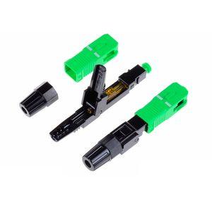 High Quality 50PCS SC APC fiber optic SC APC Single-mode Fast connector SC APC FTTH Fiber Optic quick Connector 50PC