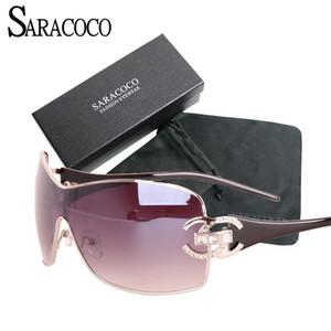 Saracoco Vintage Lunettes de soleil Gradient Femmes avec forfait Fashion Marque Designer Or Cadre Gold Sun Lunettes Sun Oculos Femininos