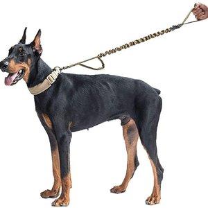 Haustierleine Outdoor-Hundeleinen Tarn-Muster-Länge 104-139cm Elastische Band einziehbare Haustierhund liefert XD24397