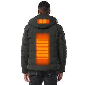 Inverno Mens USB riscaldato piumino uomo Uomo urbano