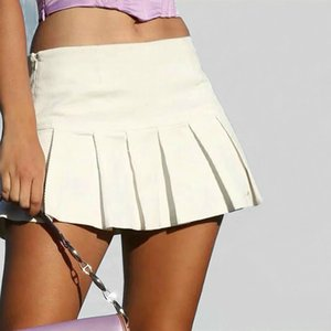 Sexy black and white folding tennis skirt women's high waist tennis shoes Korean fashion dress summer mini tennis skirt 2020