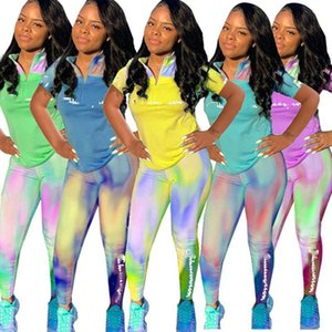 Champion Women designer plus size 2 piece set summer fall clothes tracksuit t-shirt pants outfits leggings sports suit jogger fashion 0564