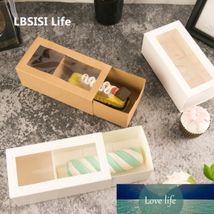 LBSISI Life 10pcs Sweet Time Drawer Stlye Paper Box Handmade Cookies Baking Pack Baby Shower Child Favor Gift Cake Decoration