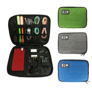 Multi-functional Digital Bag Electronic Storage Bag Kit Data Cable Cationic Fabric Digital Gadget Devices Divider Organizer