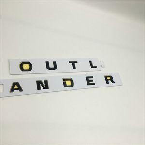 Украшение автомобилей для Mitsubishi Outlander передний капюшон Гриль эмблема капота логотип буквы символ значки наклейки