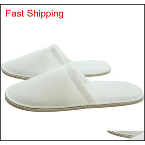 Hotel Comfortable Inner Thick Disposable Slippers Anti-slip Home Guest Shoes Breathable Soft Disposable qylIEQ yh_pack