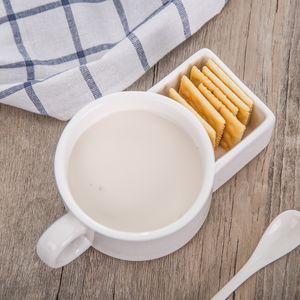Biscotti in ceramica Coppa creativa viso biscotti tazze di biscotti in ceramica tazza di caffè in ceramica tazza di caffè tre in-one tazza siamese regalo xmas w-00582