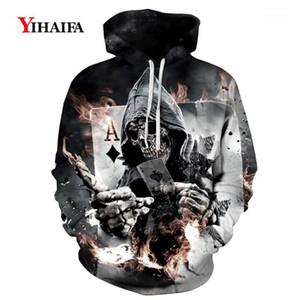 Men's Hoodies & Sweatshirts Joker Poker 3D Printed Women Men Harajuku Fashion Casual Streetwear Halloween Hip Hop Hoodie Tops1