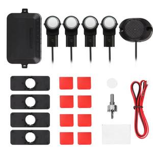 Car Parking Sensors System Parktronics 4pcs Flat Sensors Reverse Backup Radars Sound Buzzer Alarm Adjustable Sound