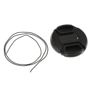 52mm Plastic Front Lens Cap Cover for Canon Nikon DSLR DC SLR Camera DV - Black