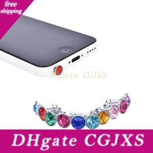 3 .5mm Kristallrhinestone-Diamant-Antistaub-Stecker für Iphone Samsung Kopfhörer Jack Stecker Handy-Kopfhörer Zubehör