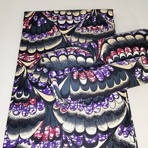 NEW Ankara cotton Wax High Quality For Dress 100% Cotton Printed African Wax Fabric 6 yards
