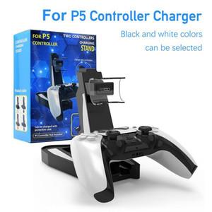 Контроллер зарядного устройства Док-станция для - 5 ПС5 Gamepad LED Dual USB Подставка для зарядки станции Cradle Принадлежности для источников питания