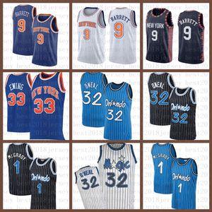 2021 New Basketball Jersey OrlandoMagic Mens New.YorkKnicks 32 O'Neal RJ 9 Barrett Patrick 33 Ewing Penny 1 Hardaway grün
