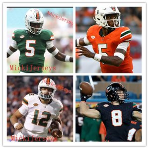 맞춤형 마이애미 허리케인 Nesta Jade Silvera Jeremiah Payton Bubba Bolden Mark Pope Chantz Williams Navaughn Donaldson Miami Football Jersey