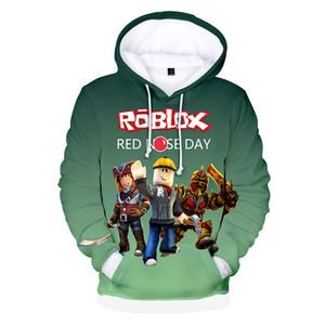 2021 الشتاء هوديي ROBLOX عارضة تي طفل الرسوم المتحركة 3D الصبي تي شيرت الأزياء تنفس الصبي ملابس قميص Ypf924