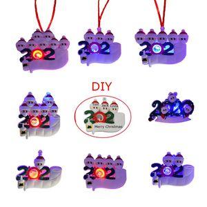 LED 크리스마스 검역 장식품 나만의 장난감 생존자 가족 크리스마스 트리 조명 장식 장식 파티 호의 DHC3635