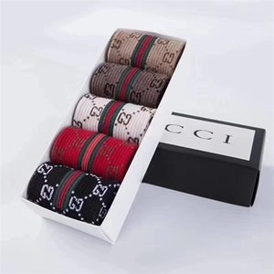 5PCS / Lot с коробкой Short спорт Носок Street Style Stripe Спорт баскетбол носками для мужчин и MS мужских носков дизайнера 1GGG носки 1G