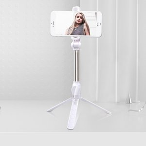 New tripod selfie stick, horizontal and vertical shooting bluetooth selfie stick, vibrato live mobile phone holder