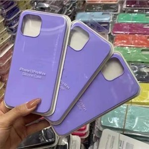 Original Liquid Silicone Case For iPhone 12 11 Pro Max X XS XR XS Max Shockproof Phone Case Retail Package