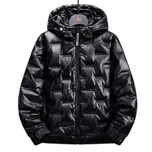Couple Hooded Down Jacket Fashion Bright Color 2020 Winter Brand Clothing Thick Warm Men and Women Loose Down Coat Clothing