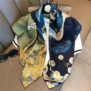 Outlet Nuevas bufandas de seda para la primavera, el verano y