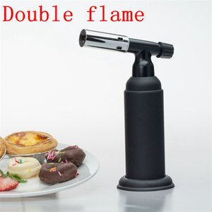 1300C Butane Torch Lighter Windproof double Flames Micro cigarette cigar Torch welding Lighter Professional Kitchen Torch BBQ tool