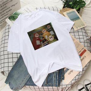 harajuku cute clothes print punk vintage camisas Casual Loose gothic T shirt Tops dropshipping Women Spoof Cartoon Short Sleeve