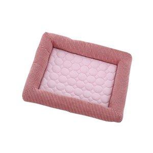 Летние прохладный PAD PAD PREMIUM Крытый подушка для домашних животных для кошек (розовый, S, 45x35см)