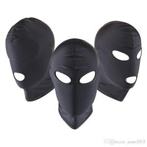 Adult Fetish Bondage Маска глаз Бану Унисекс Открытая БДСМ маска игрушки косплей Headgear Рот Пол дышащий Hood Эротический Fetis Человек взрослых Ti Cwrmr