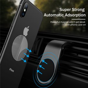 Magnetic Car phone Holder Stand For iPhone 12 360 Rotating Metal Air vent Magnetic Holder in Car GPS Mount Holder