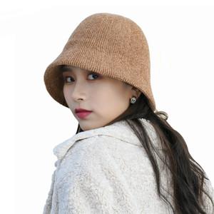 Otoño Invierno Mujeres pana del sombrero del cubo de alta calidad de color sólido Slouchy Pescador sombrero suave cuenca del sombrero del capo de la vendimia