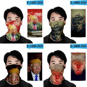 Amerika Trump magischer Schal Donald 3D-Drucken Sports Turban 2020 US-Präsident Weihnachtsdekoration Maske Männer Frauen 7OH G2
