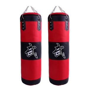 Пустой бокс Sand сумка Висячие удар Sandbag бокса Обучение Борьба Каратэ Удар Штамповка Sand Bag с металлической цепью крюк Карабин