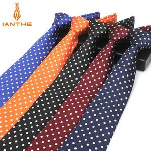 Fashion Blue Dot Tie 8cm Necktie For Men Red Wedding Neck Ties Men's Classic Ties For Business Party SuitS Accessories Cravate
